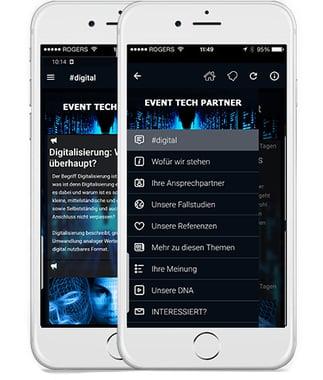 Screenshot aus EAP Demo App